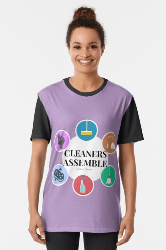 Cleaners Assemble, Savvy Cleaner Funny Cleaning Shirts, Graphic shirt