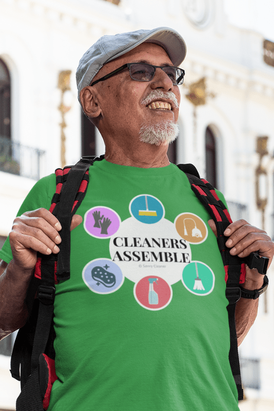Cleaners Assemble, Savvy Cleaner Funny Cleaning Shirts, Premium T-Shirt