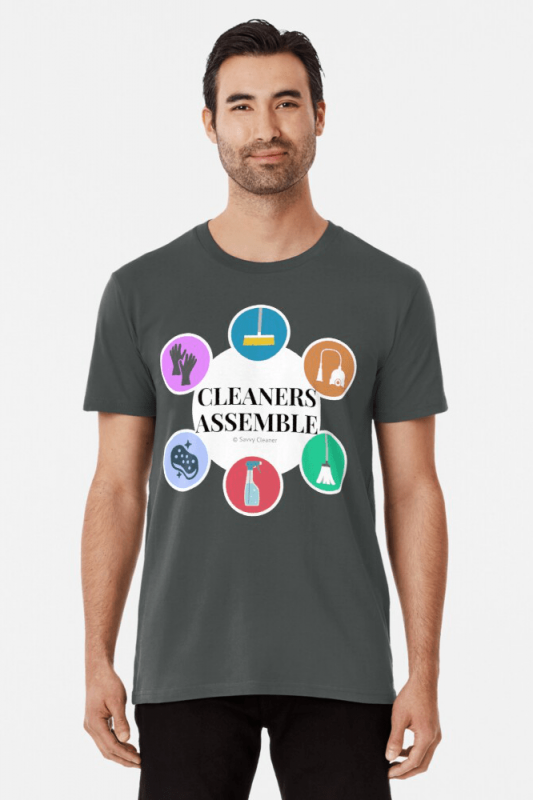Cleaners Assemble, Savvy Cleaner Funny Cleaning Shirts, Premium shirt