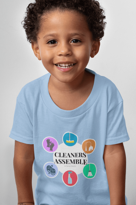 Cleaners Assemble, Savvy Cleaner Funny Cleaning Shirts, Toddler Classic T-Shirt