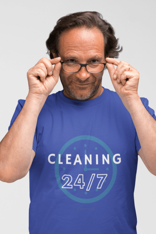 Cleaning 24-7, Savvy Cleaner Funny Cleaning Shirts, Classic T-Shirt