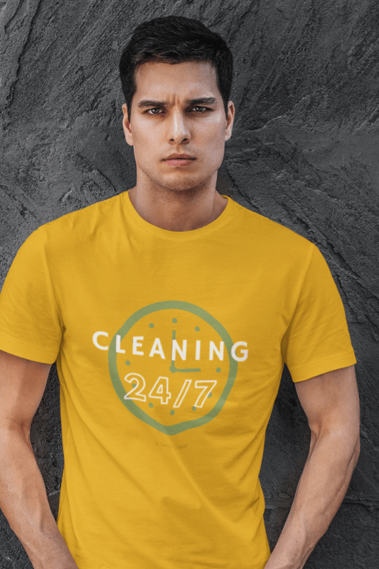 Cleaning 24-7, Savvy Cleaner Funny Cleaning Shirts, Premium T-Shirt