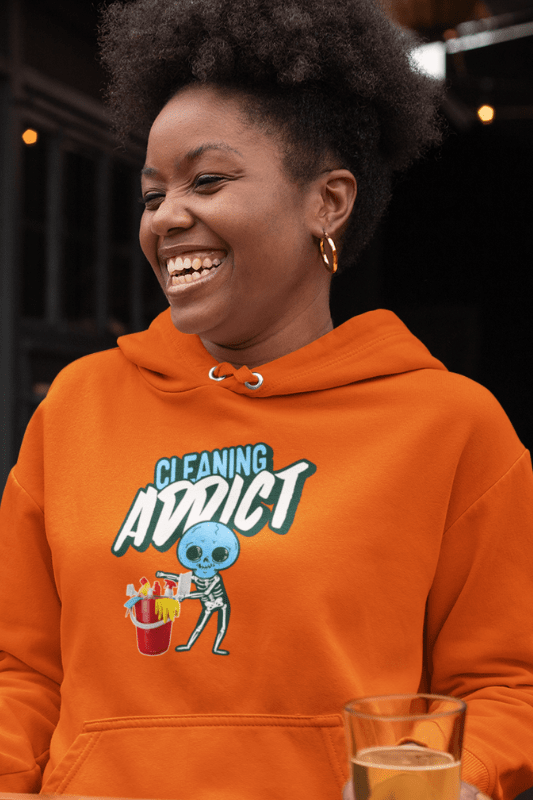 Cleaning Addict Savvy Cleaner Funny Cleaning Shirts, Classic Pullover Hoodie