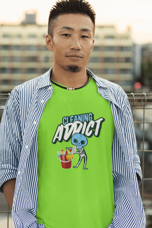 Cleaning Addict, Savvy Cleaner Funny Cleaning Shirts, Classic T-Shirt
