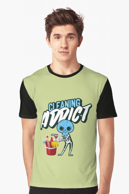 Cleaning Addict Savvy Cleaner Funny Cleaning Shirts, Graphic Shirt