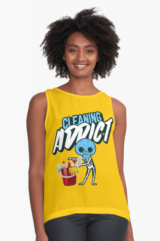 Cleaning Addict Savvy Cleaner Funny Cleaning Shirts, Sleeveless shirt