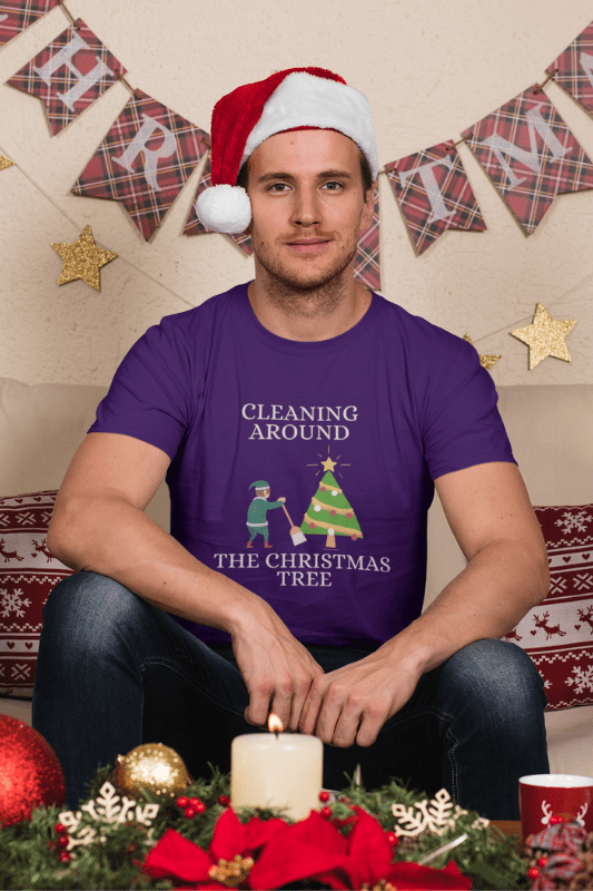 Cleaning Around the Christmas Tree Savvy Cleaner Funny Cleaning Shirts Classic T-Shirt