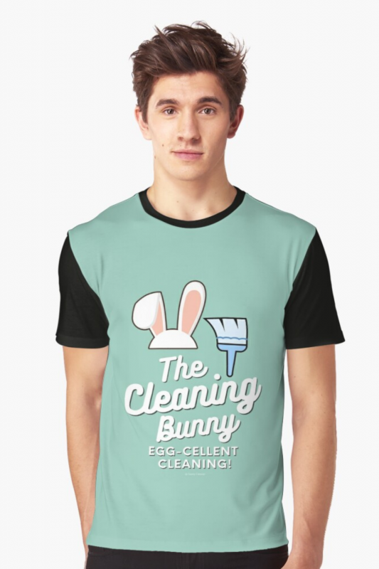 Cleaning Bunny Savvy Cleaner Funny Cleaning Shirts Graphic Tee