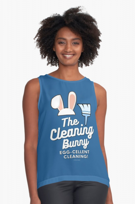 Cleaning Bunny Savvy Cleaner Funny Cleaning Shirts Sleeveless Top