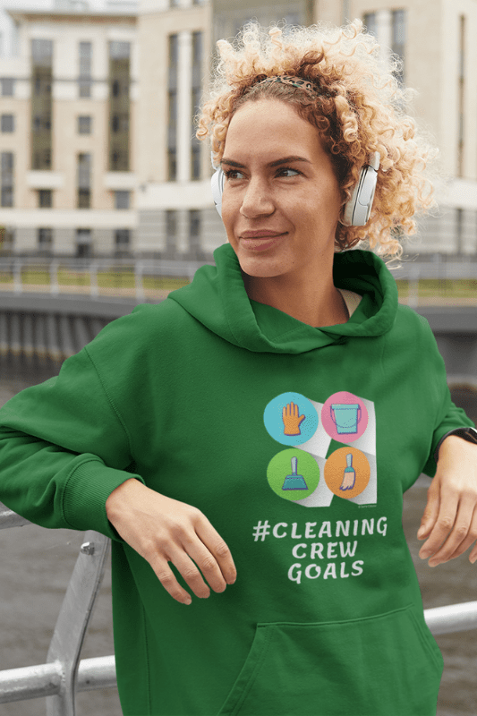 Cleaning Crew Goals Savvy Cleaner Funny Cleaning Shirts Classic Pullover Hoodie