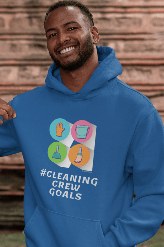 Cleaning Crew Goals Savvy Cleaner Funny Cleaning Shirts Premium Pullover Hoodie