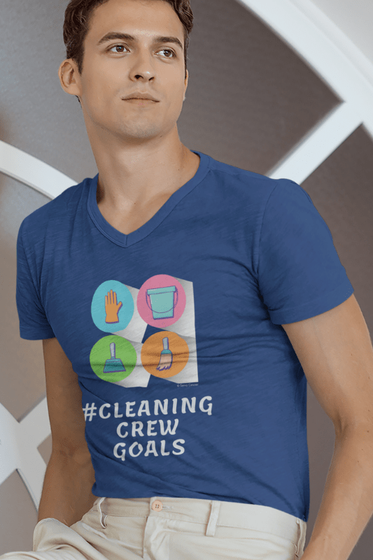 Cleaning Crew Goals Savvy Cleaner Funny Cleaning Shirts Premium V-Neck T-Shirt