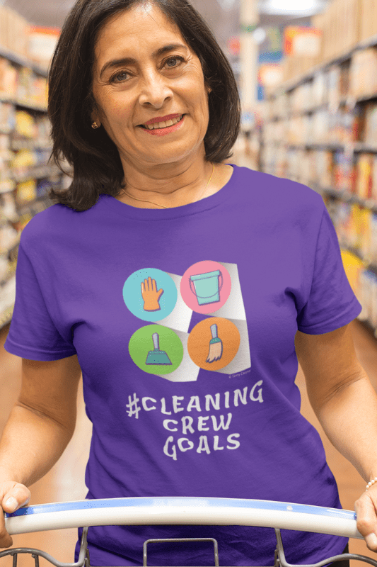 Cleaning Crew Goals Savvy Cleaner Funny Cleaning Shirts Women's Boyfriend T-Shirt