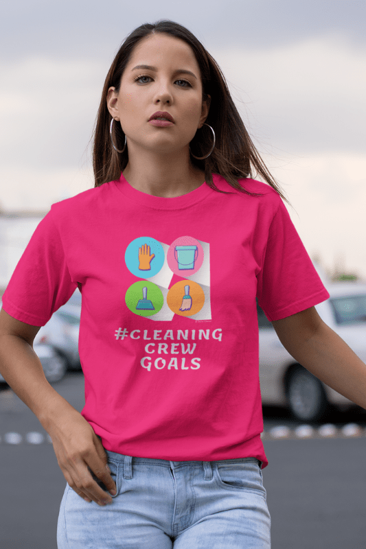 Cleaning Crew Goals Savvy Cleaner Funny Cleaning Shirts Women's Classic T-Shirt
