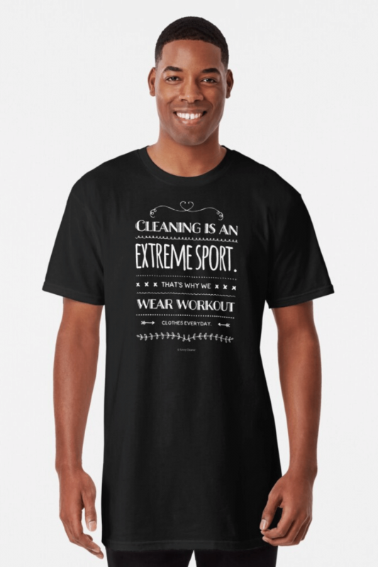 Cleaning Is An Extreme Sport Savvy Cleaner Funny Cleaning Shirts Long T-Shirt