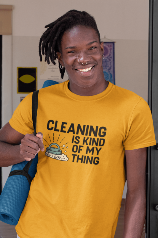 Cleaning Is My Kind of Thing Savvy Cleaner Funny Cleaning Shirts Premium T-Shirt