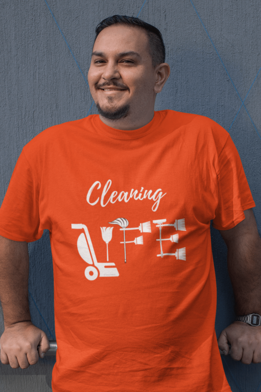 Cleaning Life Savvy Cleaner Funny Cleaning Shirts Comfort T-Shirt