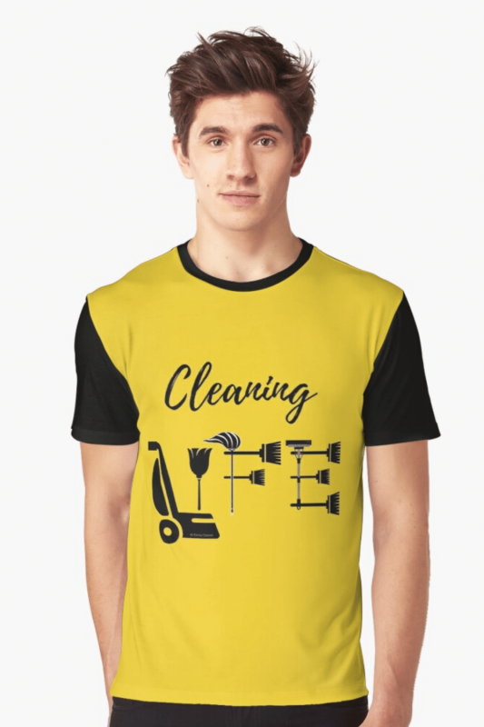 Cleaning Life Savvy Cleaner Funny Cleaning Shirts Graphic T-Shirt