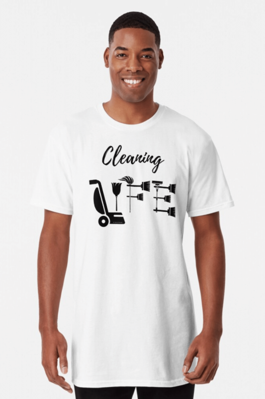 Cleaning Life Savvy Cleaner Funny Cleaning Shirts Long T-Shirt