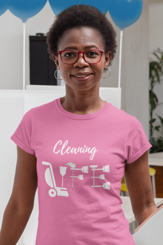 Cleaning Life Savvy Cleaner Funny Cleaning Shirts Women's Comfort T-Shirt