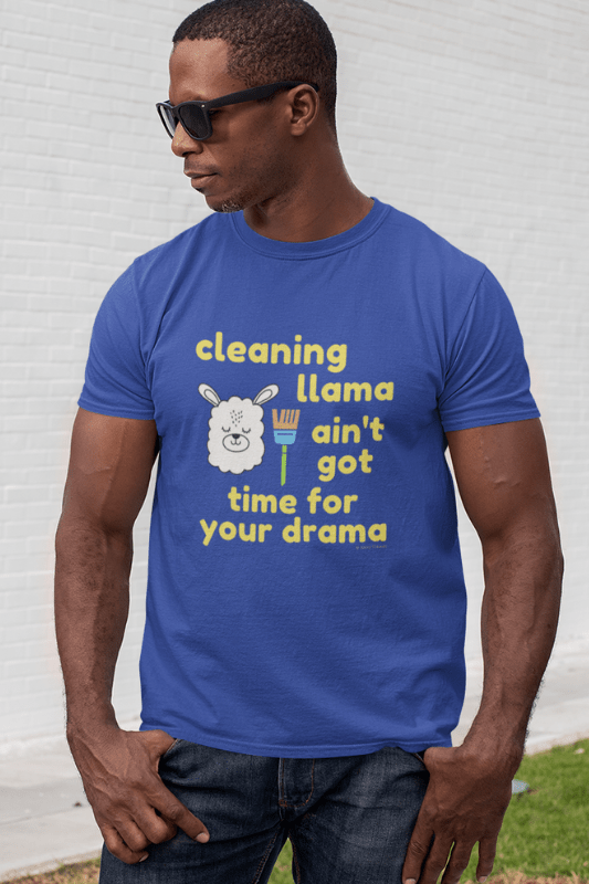 Cleaning Llama, Savvy Cleaner Funny Cleaning Shirts, Classic T-Shirt
