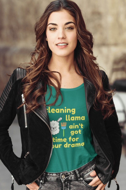 Cleaning Llama, Savvy Cleaner Funny Cleaning Shirts, Women's Slouchy T-Shirt