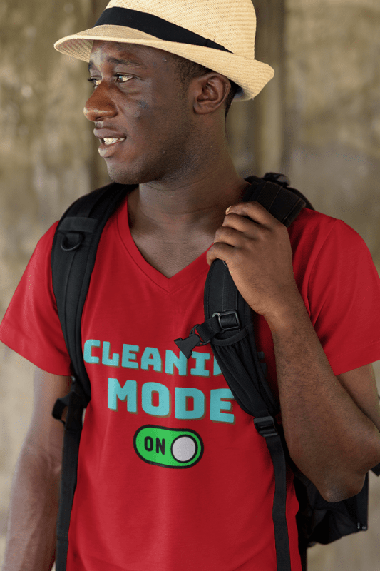 Cleaning Mode Savvy Cleaner Funny Cleaning Shirts, Premium V-Neck T-Shirt