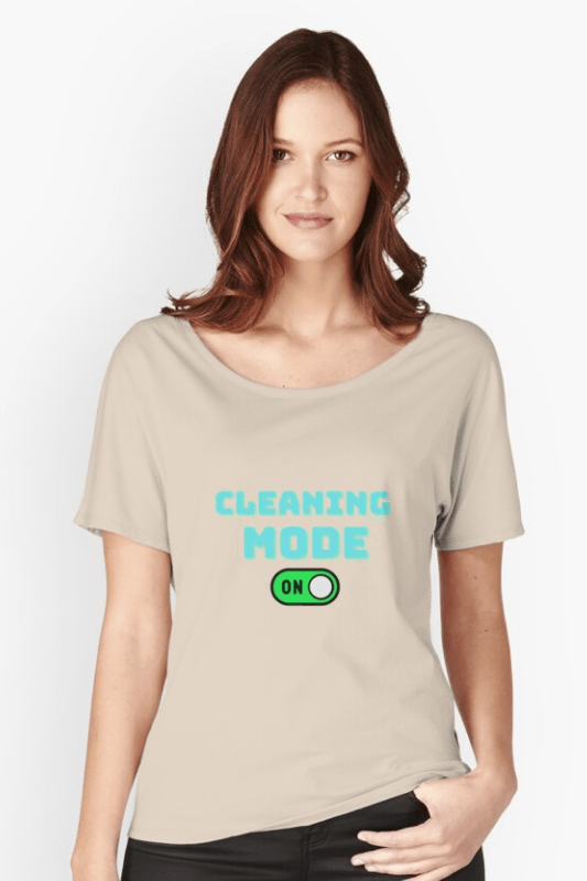 Cleaning Mode Savvy Cleaner Funny Cleaning Shirts Slouch Tee