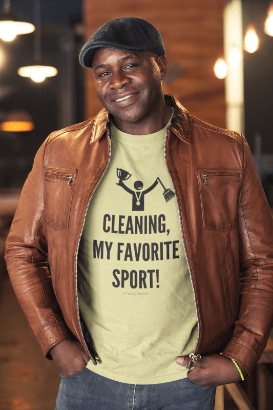 Cleaning My Favorite Sport, Savvy Cleaner Funny Cleaning Shirts, Premium T-Shirt
