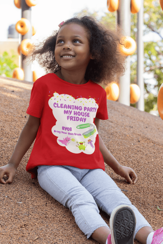 Cleaning Party, Savvy Cleaner Funny Cleaning Shirts, Kids T-Shirt