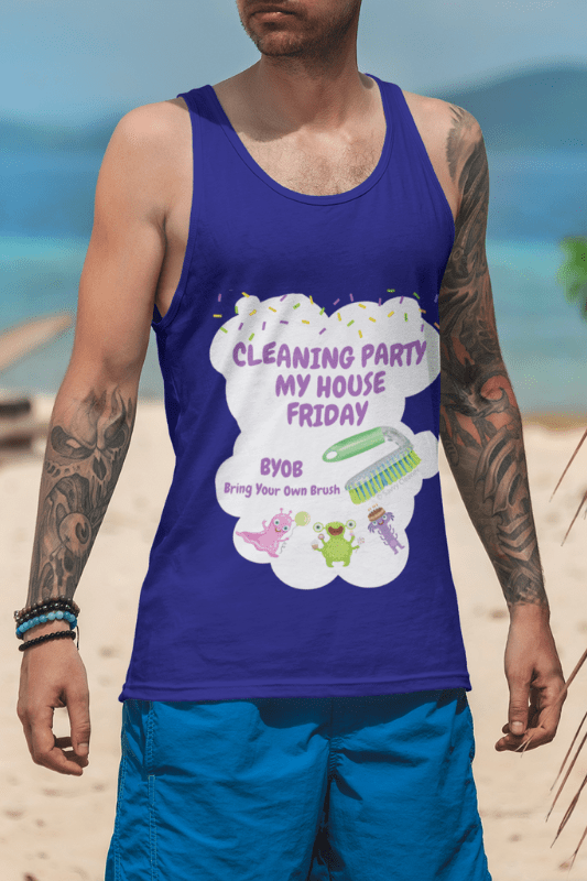 Cleaning Party, Savvy Cleaner Funny Cleaning Shirts, Tank Top