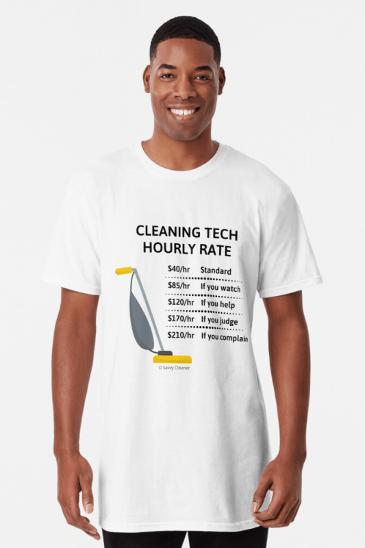 Cleaning Tech, Savvy Cleaner Funny Cleaning Shirts, Long Shirt