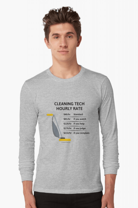 Cleaning Tech, Savvy Cleaner Funny Cleaning Shirts, Long Sleeve shirt