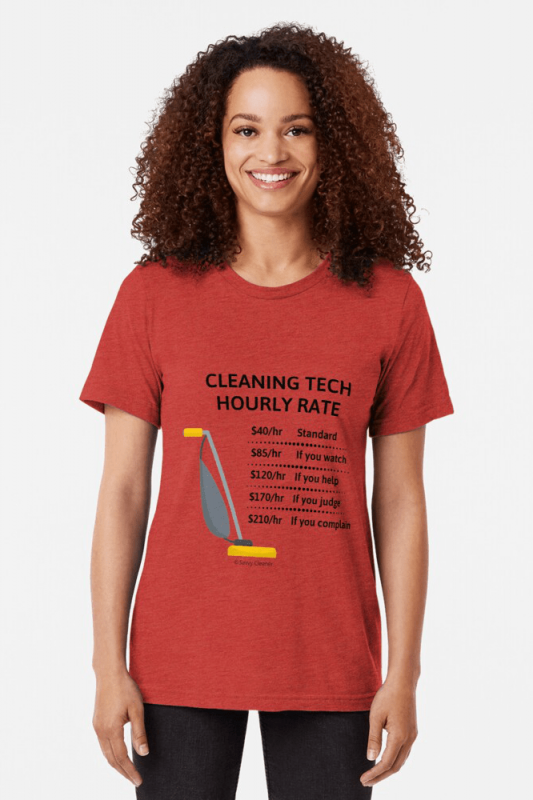 Cleaning Tech, Savvy Cleaner Funny Cleaning Shirts, Triblend Shirt