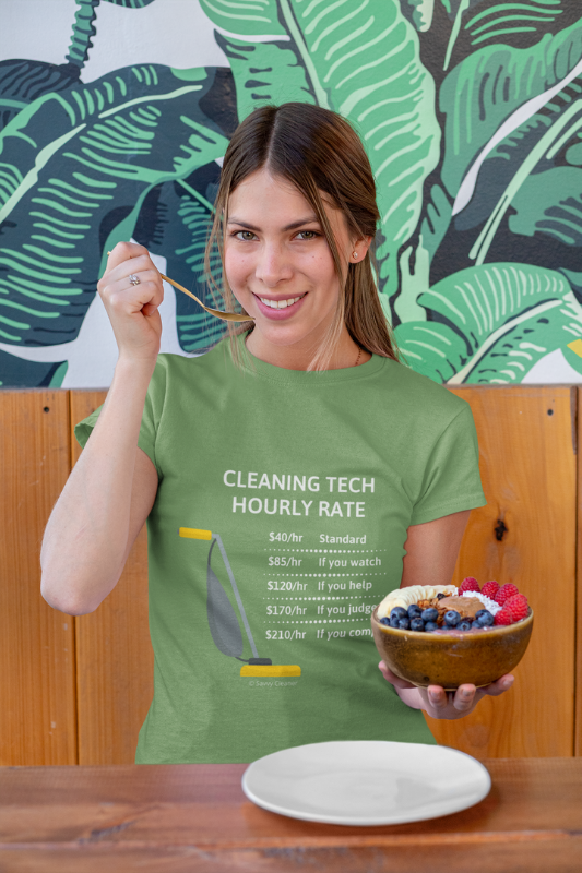 Cleaning Tech, Savvy Cleaner Funny Cleaning Shirts WWIB_2