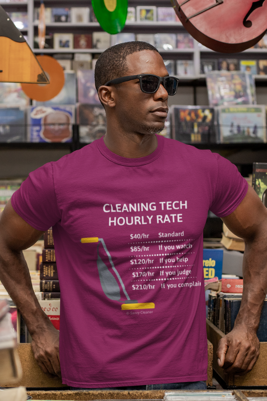 Cleaning Tech, Savvy Cleaner Funny Cleaning Shirts standard t-shirt