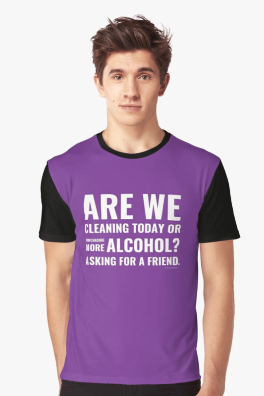 Cleaning Today Savvy Cleaner Funny Cleaning Shirts Graphic T-Shirt