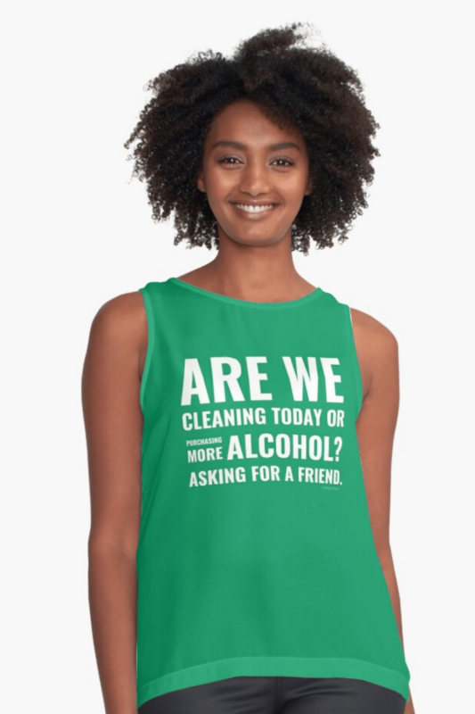 Cleaning Today Savvy Cleaner Funny Cleaning Shirts Sleeveless Top