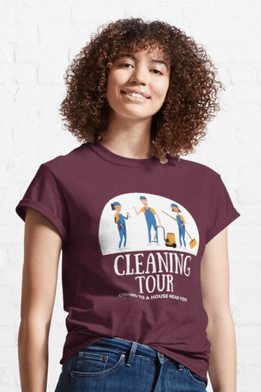 Cleaning Tour Savvy Cleaner Funny Cleaning Shirts Classic T-Shirt