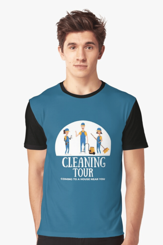 Cleaning Tour Savvy Cleaner Funny Cleaning Shirts Graphic T-Shirt