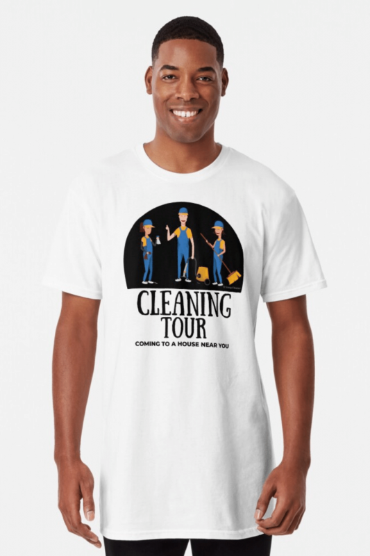 Cleaning Tour Savvy Cleaner Funny Cleaning Shirts Long T-Shirt