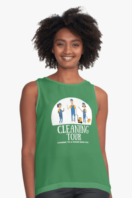 Cleaning Tour Savvy Cleaner Funny Cleaning Shirts Sleeveless Top