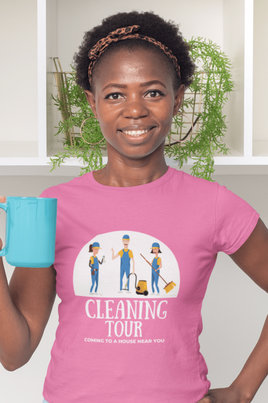 Cleaning Tour Savvy Cleaner Funny Cleaning Shirts Women's Comfort T-Shirt