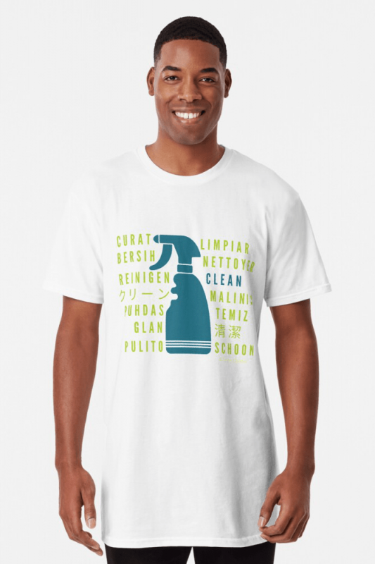 Cleaning in Every Language, Savvy Cleaner Funny cleaning shirts, Long T-shirt