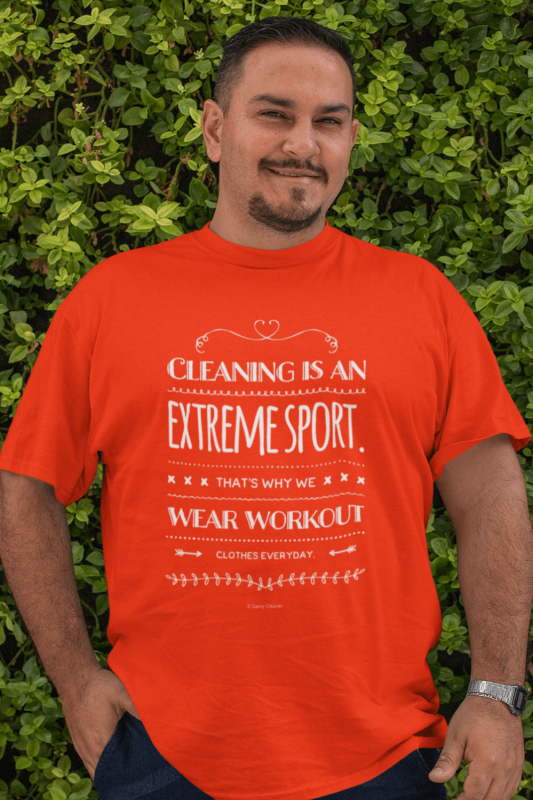 Cleaning is An Extreme Sport Savvy Cleaner Funny Cleaning Shirts Classic Tee