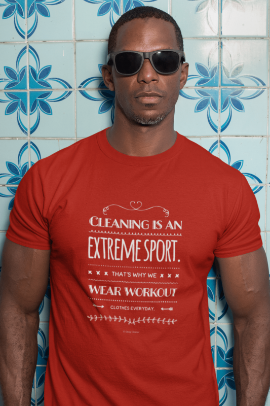 Cleaning is An Extreme Sport Savvy Cleaner Funny Cleaning Shirts Men's Standard Tee