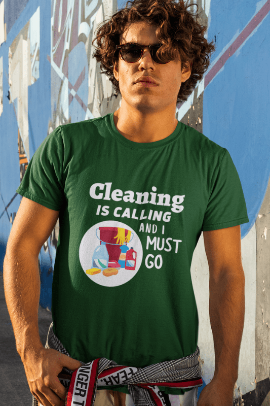 Cleaning is Calling Savvy Cleaner Funny Cleaning Shirts Classic T-Shirt