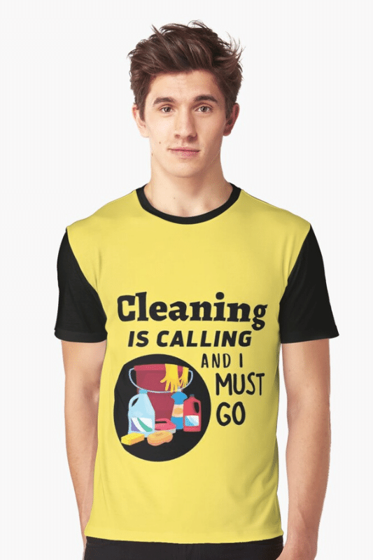 Cleaning is Calling Savvy Cleaner Funny Cleaning Shirts Graphic Tee