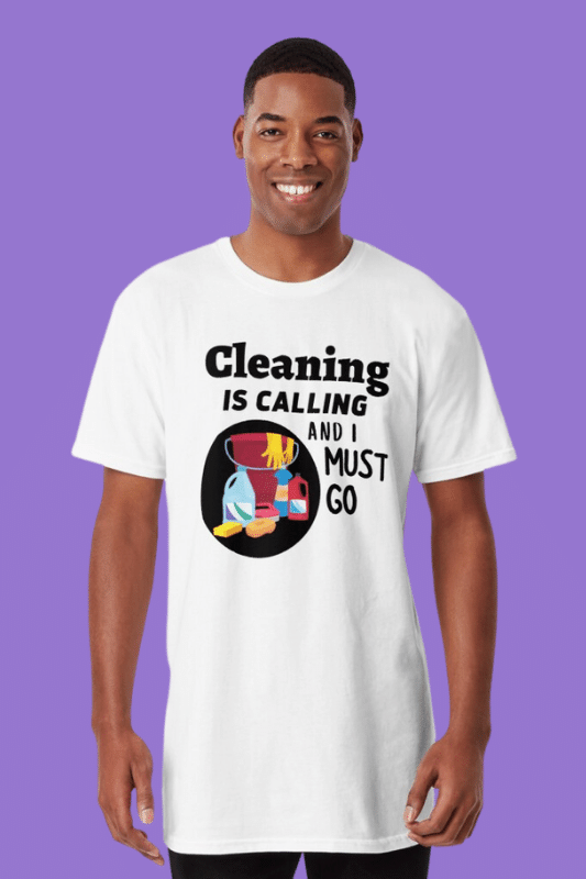 Cleaning is Calling Savvy Cleaner Funny Cleaning Shirts Long Tee