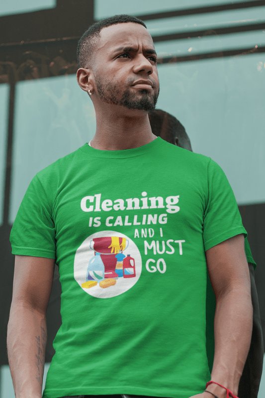 Cleaning is Calling Savvy Cleaner Funny Cleaning Shirts Premium T-Shirt
